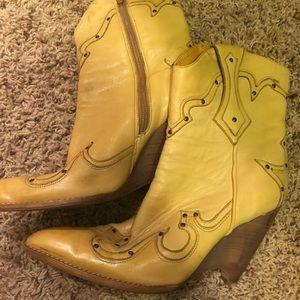 BCBG Girls wedge boot- Mustard Yellow with detail